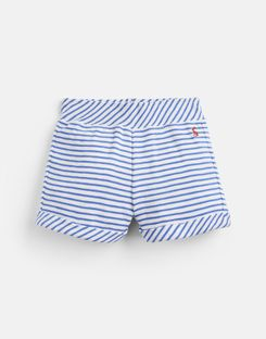 Joules UK Kittiwake Older Girls Jersey Shorts 1-12 Yr WHITE BLUE STRIPE