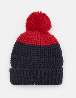 Joules UK Bobble Boys Hat NAVY
