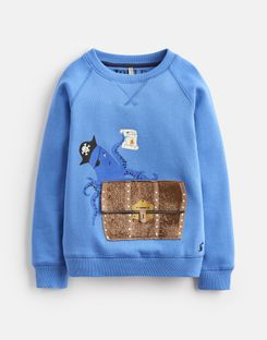 Joules US Ventura Younger Boys Sweatshirt 1-6 Yr BLUE OCTOPUS