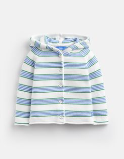 Joules US Vince Baby Boys Knitted Cardigan BLUE GREEN STRIPE