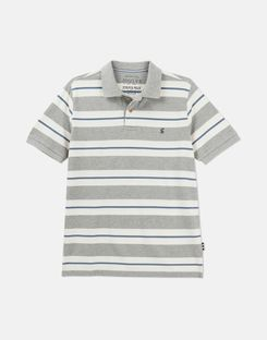 Joules US Filbert Mens Striped Classic Fit Polo GREY STRIPE