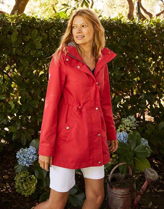 Joules Womens Shoreside Waterproof Coat - Red