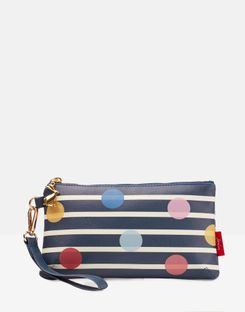 Joules UK Small Zip Pouch Homeware Stripe and Spot NAVY SPOT STRIPE