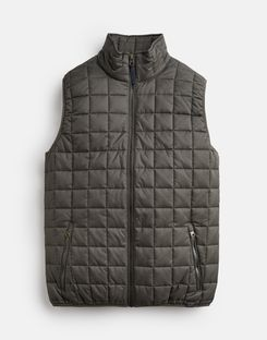 Joules US Ridgeway Mens Lightweight Square Quilt Vest GREY