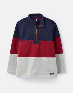Joules US Dale Older Boys Sweatshirt 1-12 Years NAVY RED GREY