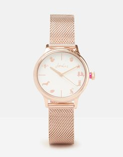 Joules UK Farnley Rose Gold Womens Womens Metal Strap Watch ROSE GOLD