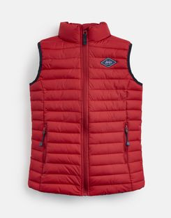 Joules UK CROFTON Older Boys QUILTED GILET 1-12yr RED