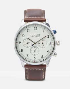 Joules UK Huxley Mens Mens Leather Strap Watch TAN