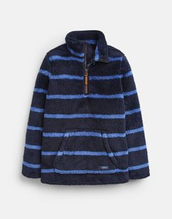 Joules US Woozle Older Boys Fleece 1-12 Years NAVY STRIPE