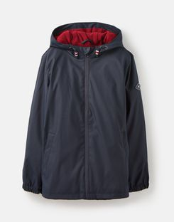 Joules UK Portwell Older Boys Lightweight Waterproof Jacket 3-12 Years MARINE NAVY