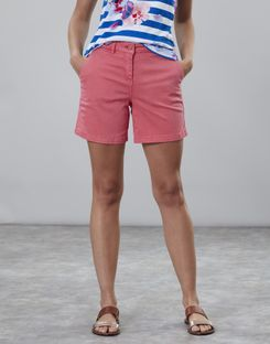 Joules UK Cruise Womens Mid Thigh Length Chino Shorts PINK
