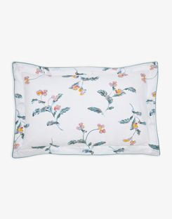 Joules UK Swanton Floral Oxford Homeware Pillowcase CREAM GREEN FLORAL