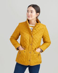 Joules UK Newdale Womens Quilted Coat CARAMEL