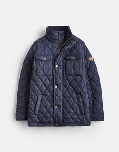 Joules UK STAFFORD Older Boys QUILTED JACKET 3-12yr MARINE NAVY