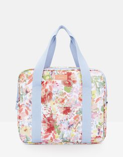 Joules UK Picnic Cool Bag Homeware Printed And Fully Insulated WHITE FLORAL