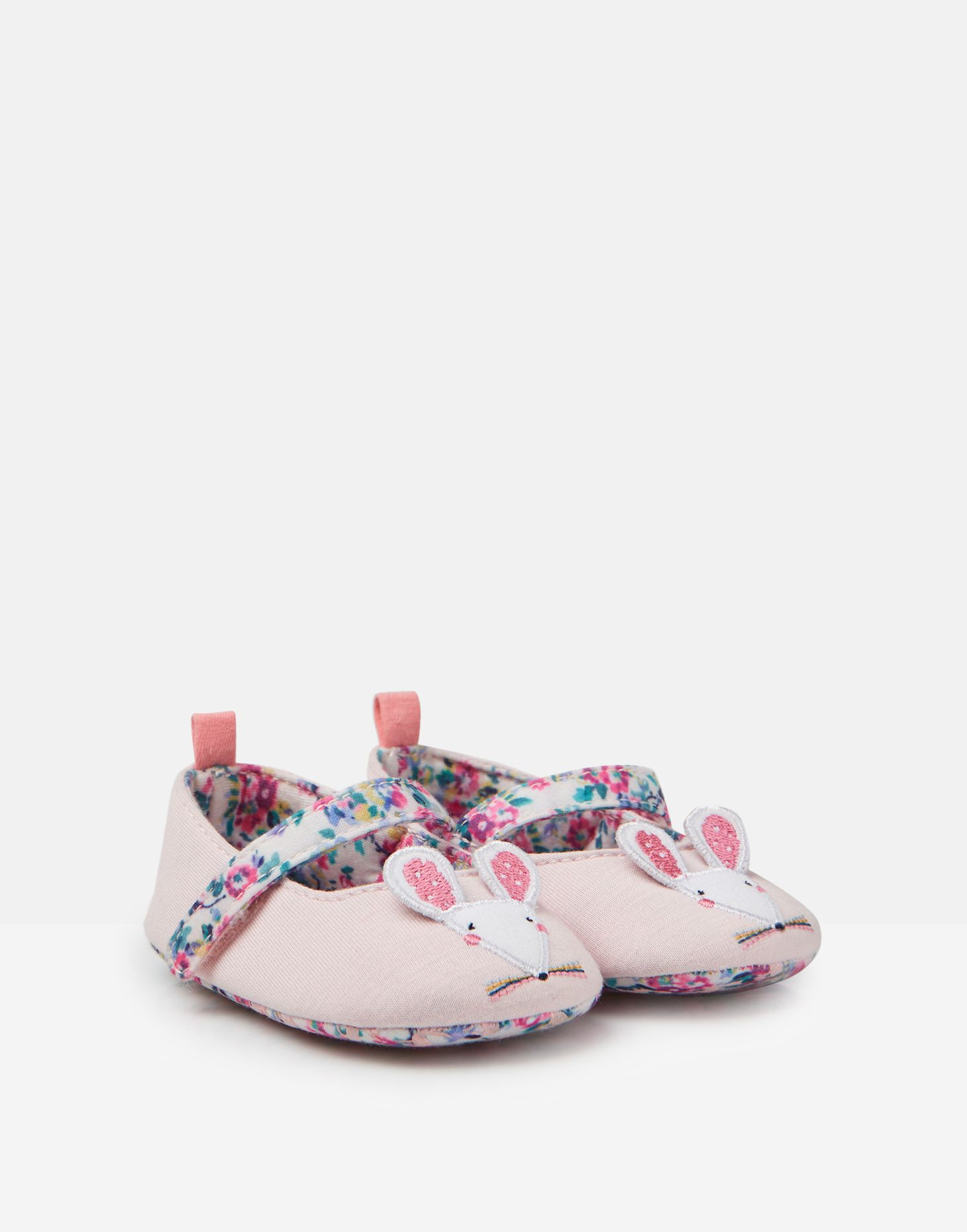 Pretty Ditsy Joules Mary Jane Velcro Strap Pumps