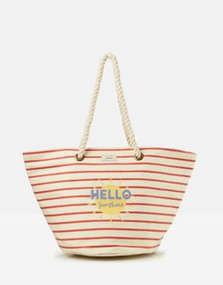 Joules UK Seaside Womens Summer Beach Bag RED SUNSHINE