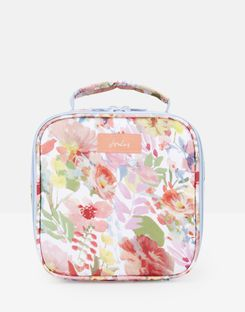 Joules UK Picnic Lunch Bag Homeware Printed And Fully Insulated WHITE FLORAL