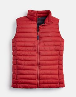 Joules US GO TO Mens Lightweight Quilted Vest RED