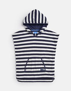Joules US Rockpooler Older Boys Towelling Cover Up 1-12 Yr CREAM NAVY STRIPE