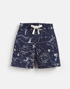 Joules UK Bucaneer Younger Boys Jersey Short 1-6 Yr NAVY TREASURE MAP