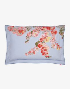 Joules UK Hollyhock Floral Oxford Homeware Pillowcase BLUE FLORAL