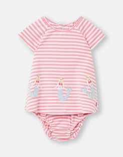 Joules Baby Poppy   Jersey Applique Top And Leggings Set Size 18m-24m
