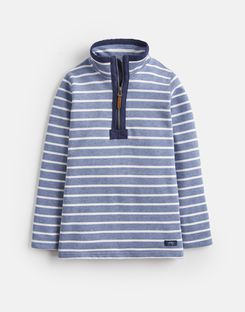 Joules UK Dale Saltwash Older Boys Half Zip Sweatshirt 3-12 Yr BLUE MARL STRIPE