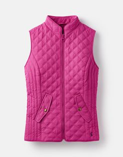 Joules UK Minx Womens Quilted Gilet PINK
