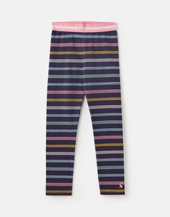 Joules UK Glitzy Luxe Older Girls Shine Waistband Legging 1-12 Years NAVY MULTI STRIPE