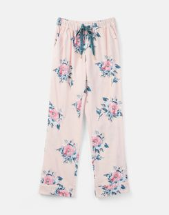 Joules US Snooze Womens Woven Pajama Bottoms PINK FLORAL