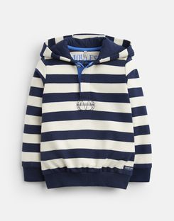 Joules UK Kingsley Older Boys Overhead Sweatshirt 3-12 Yr CREAM NAVY STRIPE