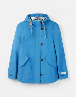 Joules US Coast Womens Waterproof Jacket FALMOUTH BLUE