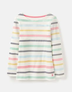 Joules UK Harbour Older Girls Jersey Top 3-12 Years MULTI STRIPE