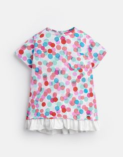 Joules US Lulabelle Younger Girls Jersey Printed T-Shirt 1-6 Yr MULTI FAIRY SPOT