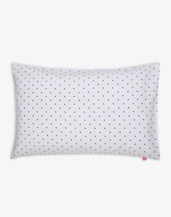 Joules UK Cottage Garden Border Stripe Spot Standard Homeware Pillowcase NAVY POLKA DOT