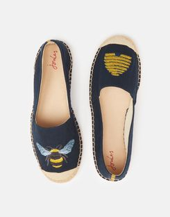 RED Joules Womens Shelbury Womens/'s Embroide Espadrilles