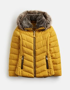 Joules US Gosway Older Girls Padded Jacket 3-12Yr ANTIQUE GOLD