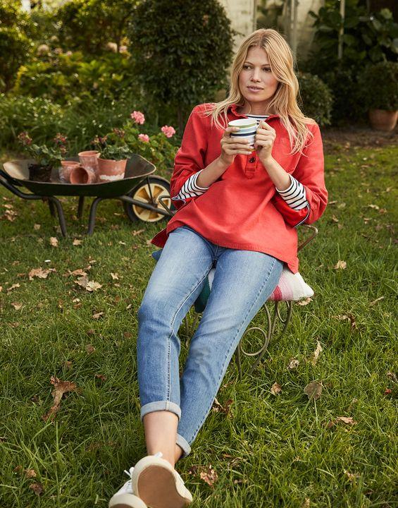 Joules Womens Simone Girlfriend Jeans - Light Denim