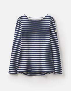 Joules UK Harbour Womens Jersey Top NAVY CREAM STRIPE