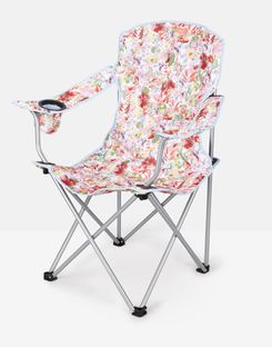 Joules UK Printed Homeware Picnic Chair WHITE FLORAL