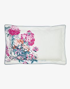 Joules UK Cottage Garden Floral Oxford Homeware Pillowcase PINK FLORAL