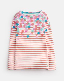 Tom Joule Kleider - Joules Germany HARBOUR Older Girls Jersey Top, 3-12 Jahre Rosa Tupfen Wasserfall