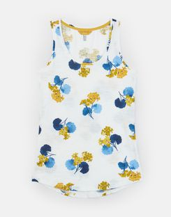 Joules UK Bo Print Womens Jersey Vest CREAM LILYPAD FLORAL