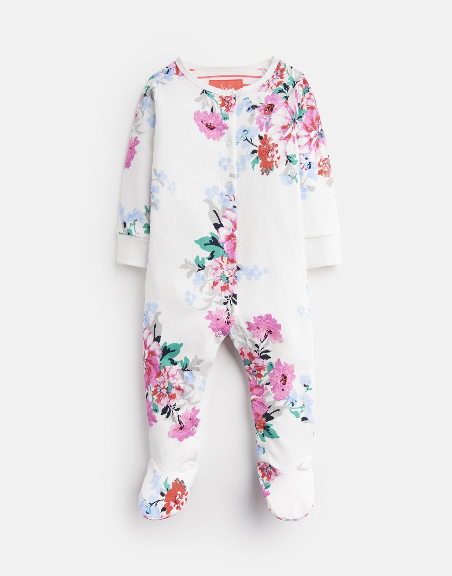 47daee805 Razamataz WHITE SMALL FLORAL JERSEY PRINTED BABYGROW