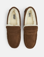 06af78adeb08 Joules UK Rafe Mens Suede Moccasin Slippers TAN