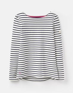 Joules UK Harbour Womens Jersey Top CREAM NAVY STRIPE