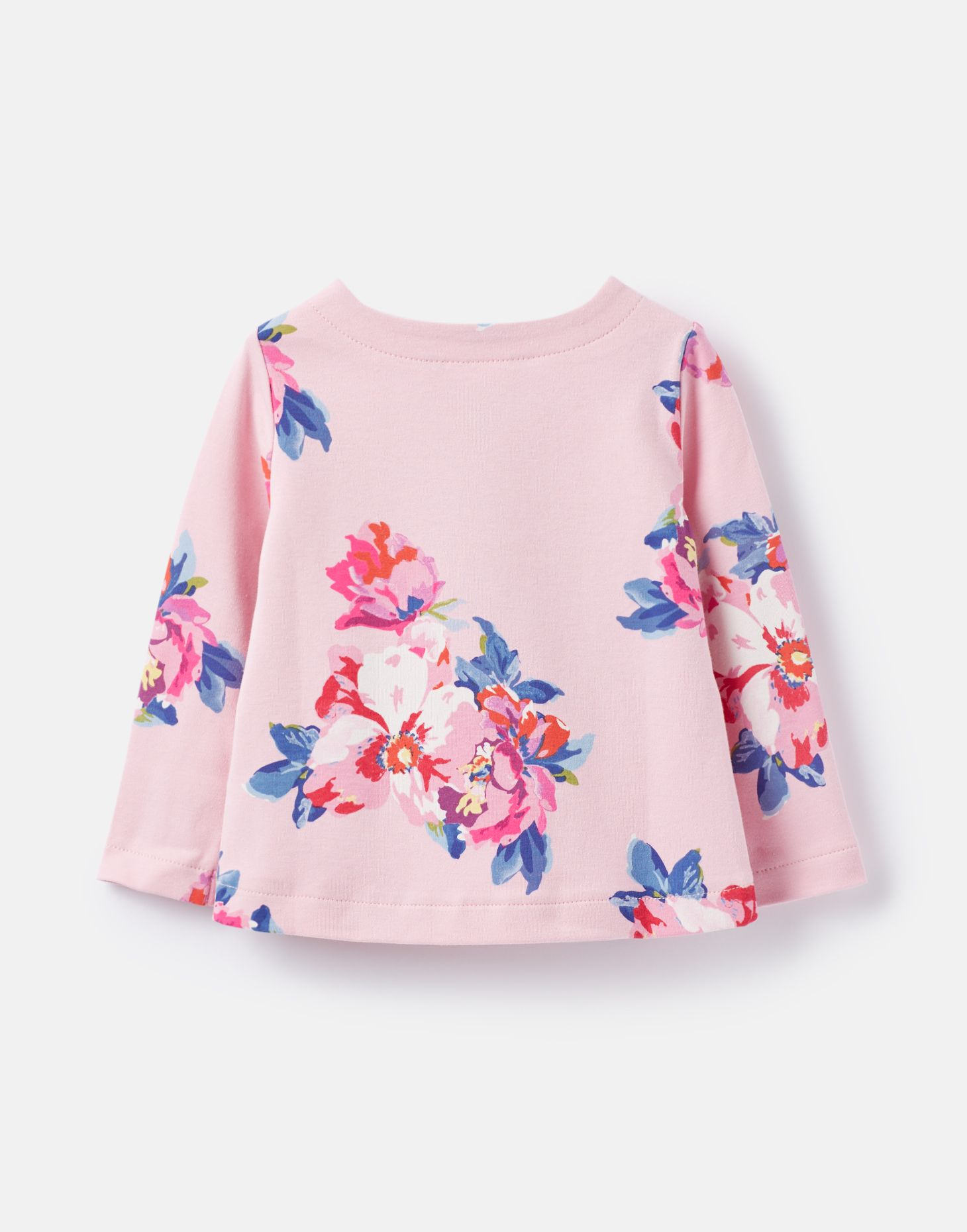 Joules 207529 Jersey Top Shirt in PINK FLORAL