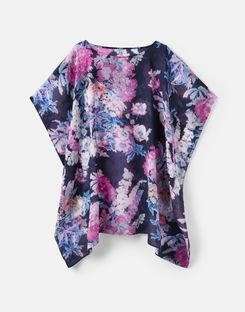 Joules UK Rosanna Womens Cover Up NAVY FLORAL