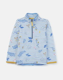Joules UK Fairdale Older Girls Half Zip Sweatshirt 3-12 Years BLUE SPRIG STRIPE